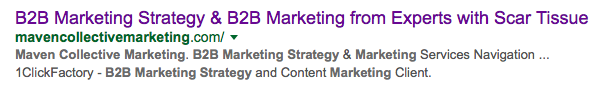 B2B marketing title tag